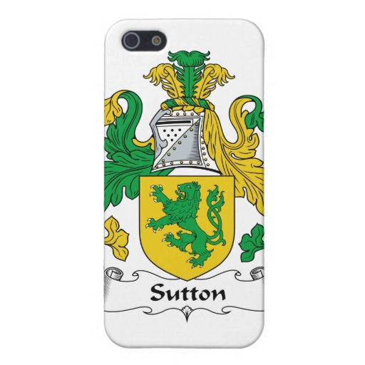 Escudo de la familia de Sutton iPhone 5 Funda