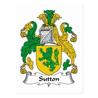 Escudo de la familia de Sutton Postal
