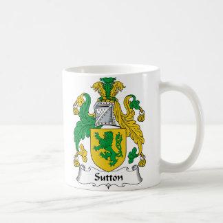 Escudo de la familia de Sutton Taza De Café