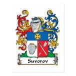 Escudo de la familia de Suvorov Postal