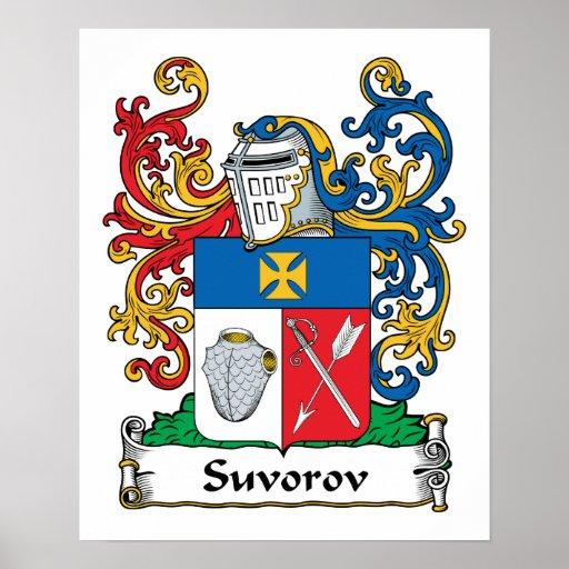 Escudo de la familia de Suvorov Poster