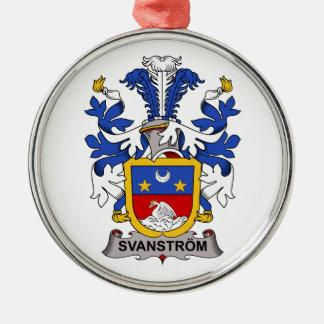 Escudo de la familia de Svanstrom Adorno Redondo Plateado
