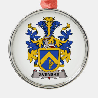 Escudo de la familia de Svenske Adorno Redondo Plateado
