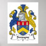 Escudo de la familia de Swayne Impresiones