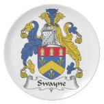 Escudo de la familia de Swayne Plato De Cena