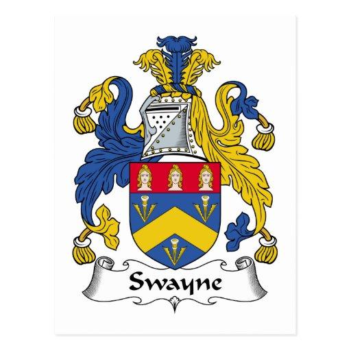 Escudo de la familia de Swayne Postal