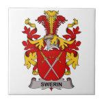 Escudo de la familia de Swerin Azulejo Cerámica