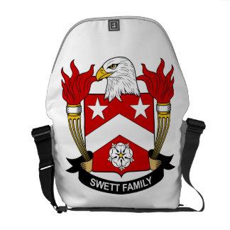 Escudo de la familia de Swett Bolsas De Mensajería