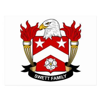 Escudo de la familia de Swett Postales