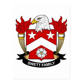 Escudo de la familia de Swett Tarjeta Postal