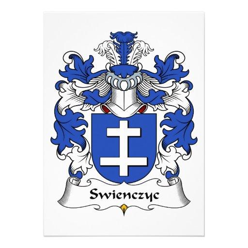 Escudo de la familia de Swienczyc Invitación