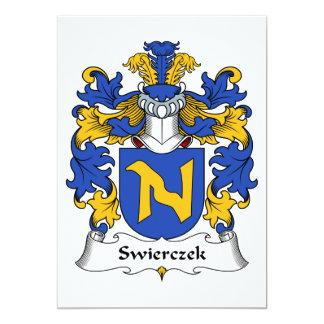 """Escudo de la familia de Swierczek Invitación 5"""" X 7"""""""