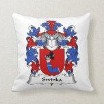 Escudo de la familia de Swinka Cojines