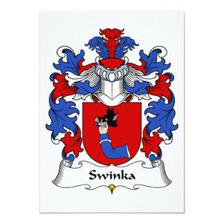 """Escudo de la familia de Swinka Invitación 5"""" X 7"""""""