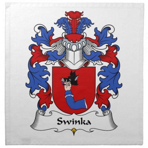 Escudo de la familia de Swinka Servilleta
