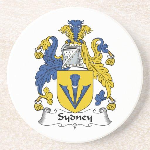 Escudo de la familia de Sydney Posavasos Para Bebidas