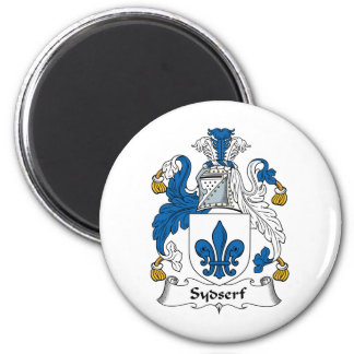 Escudo de la familia de Sydserf Imán Redondo 5 Cm