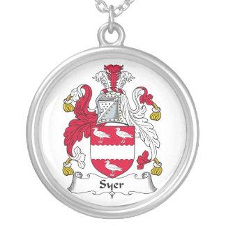 Escudo de la familia de Syer Colgante Redondo