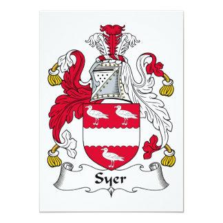 """Escudo de la familia de Syer Invitación 5"""" X 7"""""""