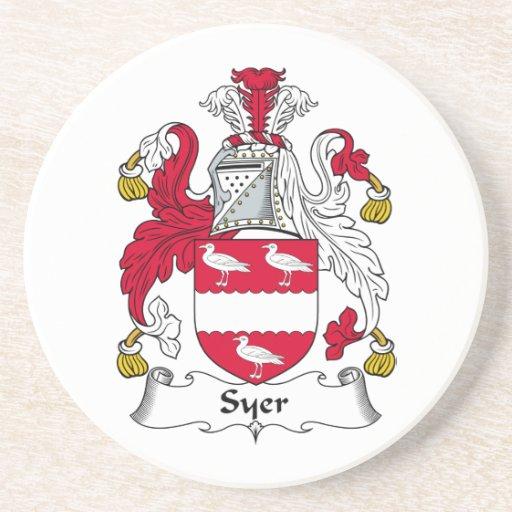 Escudo de la familia de Syer Posavasos Manualidades
