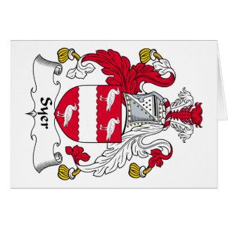 Escudo de la familia de Syer Tarjeta De Felicitación
