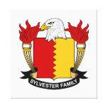 Escudo de la familia de Sylvester Impresión En Lona