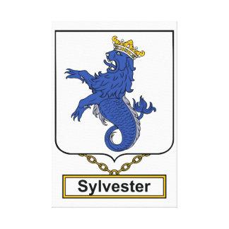 Escudo de la familia de Sylvester Lona Envuelta Para Galerias