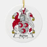 Escudo de la familia de Symes Ornamentos Para Reyes Magos