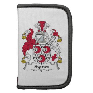 Escudo de la familia de Symes Organizador
