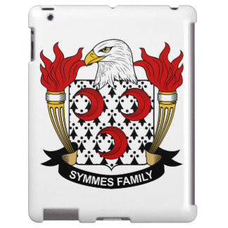 Escudo de la familia de Symmes Funda Para iPad