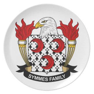 Escudo de la familia de Symmes Platos