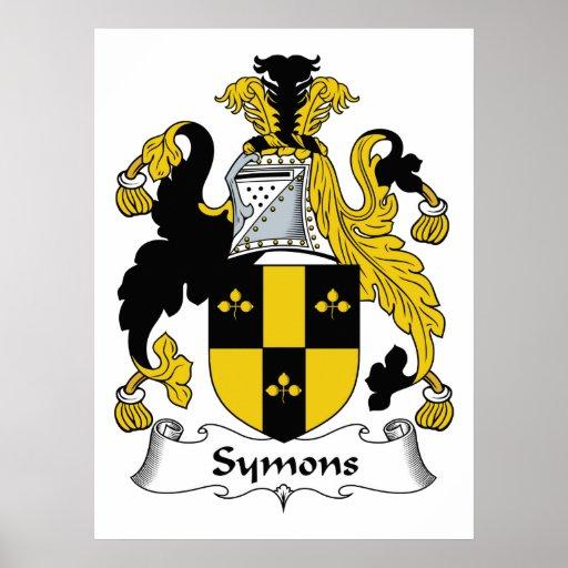 Escudo de la familia de Symons Impresiones