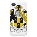 Escudo de la familia de Symons iPhone 4 Carcasas