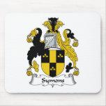 Escudo de la familia de Symons Tapetes De Ratón