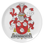 Escudo de la familia de Synnott Plato Para Fiesta