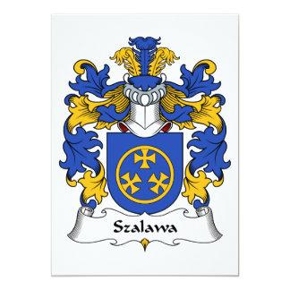 """Escudo de la familia de Szalawa Invitación 5"""" X 7"""""""