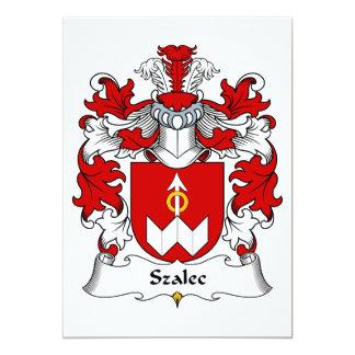 """Escudo de la familia de Szalec Invitación 5"""" X 7"""""""