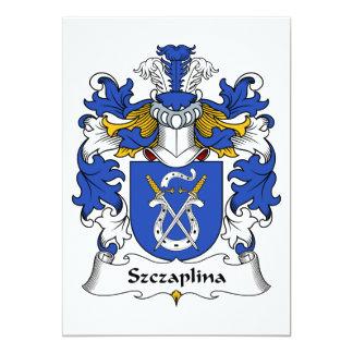"""Escudo de la familia de Szczaplina Invitación 5"""" X 7"""""""