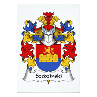 "Escudo de la familia de Szedzinski Invitación 5"" X 7"""