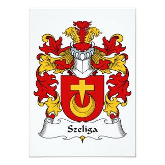 """Escudo de la familia de Szeliga Invitación 5"""" X 7"""""""