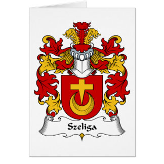 Escudo de la familia de Szeliga Tarjeta De Felicitación