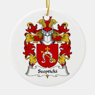 Escudo de la familia de Szepticki Adorno Redondo De Cerámica
