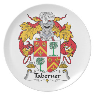 Escudo de la familia de Taberner Platos Para Fiestas