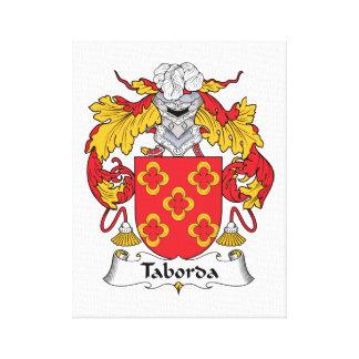 Escudo de la familia de Taborda Impresión En Tela