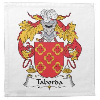 Escudo de la familia de Taborda Servilletas De Papel