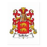 Escudo de la familia de Taillefer Postal