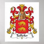 Escudo de la familia de Taillefer Posters