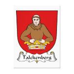 Escudo de la familia de Talckenberg Lona Envuelta Para Galerías