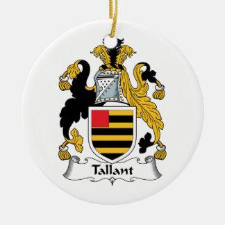 Escudo de la familia de Tallant Adorno Navideño Redondo De Cerámica