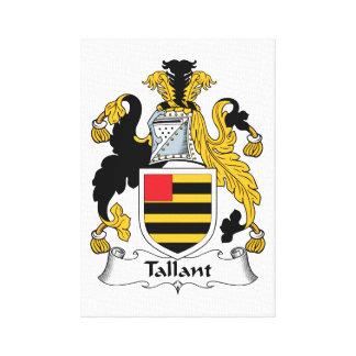 Escudo de la familia de Tallant Impresión En Lona Estirada